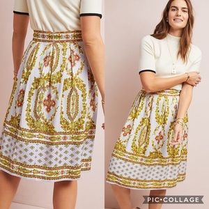 Anthropologie Maeve Echarpe Midi Skirt
